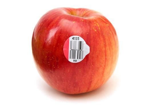 لیبل پشت چسب دار میوه